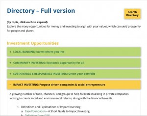 Invest with Values - Directory