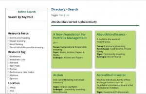 Invest with Values - Directory search